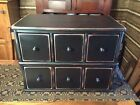 PRIMITIVE VINTAGE STYLE BLACK APOTHECARY CABINET