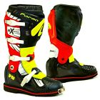 Forma Terrain TX motocross boots mens black red neon offroad motorcycle mx