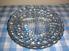 3 FIRE KING VINTAGE SAPPHIRE BLUE BUBBLE 3 SECTION GRILL RESTAURANT DINNER PLATE