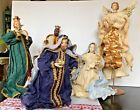 Vintage Nativity Set Large Crepe Paper Made in Philippines 20 tall