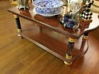 French Style Coffee Table with Wood Inlay and gold Leaf accents