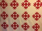 Vintage Red And White Quilt