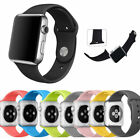 Replacement Soft Silicone Sport Watch Band Strap for Apple Watch Series 3 2 1