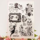 Fairy Flower Transparent Silicone Clear Rubber Stamp Cling Diary Scrapbooking
