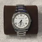 Michael Kors Women's MK6133 Bryn Stainless Steel Silver Dial  Watch Preowned