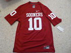 NWT Nike Oklahoma Sooners #10 Red Screen Print Jersey (Men Size SMALL)