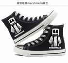 New DJ Electronic Music Marshmello men and women high top unisex canvas Sneaker