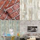 10M 3D Distressed Brick Stone Wall Paper Self Adhesive Wallpaper Printed Stick