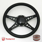 14 Billet Steering Wheel Black Half Wrap horn button Bronco Marquis Camaro GMC