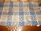 5 INDIANA GLASS Clear LUNCHEON PLATES DIAMOND PATTERN MINT Vintage