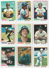 1978 78 Topps Lot YOU PICK SINGLES 35 selections 2 COMPLETE YOUR SET 12 15