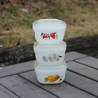 Fire King Gay Fad Fruit Small Refrigerator Dishes w/Lids Excellent 6 Piece Set
