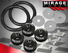 Universal Moto Car Fairing Quick Release Fasteners Washers + Tension Band Black
