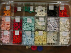 1212 Count Assorted Buttons 7 8  1 2 New with Hinged Storage Box Included