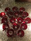 15 Vintage Anchor Hocking Royal RUBY RED Punch Tea Cups