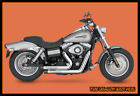 Full Exhaust Pipes System C1 Fit HD Dyna 2006 2017 Dyna Wide Glide FXDW