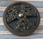 Brass or Bronze Metal Button Antique Large 1 1/4