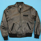 80s MEMBERS ONLY Vintage Jacket Men M L  Leather Cafe Racer Moped Motorcycle