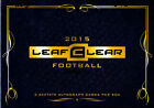 2015 Leaf Clear Football Factory Sealed Hobby 2 Box Lot
