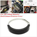 Motorcycle Oval Exhaust Protector Can Cover 100mm-140mm Diameter Exhaust Black