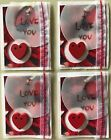 I LOVE YOU Dimensional Embellishment Stickers4pcValentineWedding HeartsLove