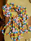 Christmas Garland Candy Sugar Coated Strand String Colorful Vintage 24 ft