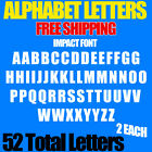 COMMERCIAL Alphabet Letters Decals IMPACT 1 2 3 4 1 15 2 25 3 FREE SHIP