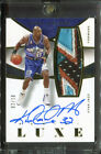 2014-15 Panini Luxe Karl Malone Jazz HOF 5-Color Game Used Patch AUTO 02 10