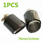 1pcs Gloss Carbon Fiber 3 Inlet Exhaust Pipe Tip Car Muffler Cover 45 Outlet