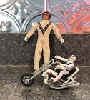 EVEL KNIEVEL 7  3 Action Figures W 5 Stunt Chopper 70s Vintage Toys Ideal