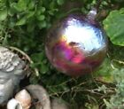 6 Inch Friendship Glass ooak Witch Ball Witchball Huge wine color fuschia new