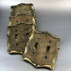1 Of 7 Vintage Amerock Decorative Metal Double Switch Plate Covers Brass