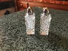 Vintage Contemporary Shaped Crystal Salt And Pepper Shakers