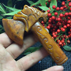 116g Chinese old natural jade Hand-Carved statue The axe auspicious a58
