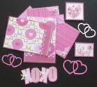 Sewn Mat Set for Scrapbook Pages Valentines Love Pink February 14
