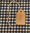 100 XSMALL Coffee Stained Primitive Antique Store Price Gift Tags Crafts Wedding