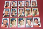 1953 TOPPS fill your set YOU PICK 5 CARDS from a lot of 141 VG