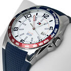 NIB Tommy Hilfiger Sport White Dial Blue Rubber Men's Watch  TH 1790885