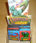 TOPPS, DINOSAURS ATTACK 1988, FULL SET, EXTRA CARDS, 19 CLOSED PACKS AND BOX