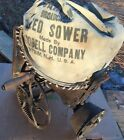Goodell ANTIQUE SEEDER SEED Sower SPREADER W/ CANVAS BAG HAND CRANKED!
