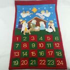 Felt Advent Calendar Nativity Christian Christmas Countdown Pockets Gloria Wall