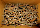 3 lb. LOT Primitive Antique New/Old Stock Hand Forged Iron Cut Nails 1 1/2-2 7/8