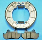 Front Pads & Rear Brake Shoes For HONDA Shadow 750 NV750C & Magna 750 VF750C V45