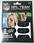 New NFL CAROLINA PANTHERS Team Face Stickers Decorations Vinyl Strips Football