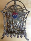 Vintage Seville Art Metal Studios Magazine Rack Art Deco Knight and Dragon 1928