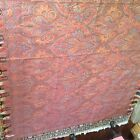 Antique vintage Paisley Wool Cotton Blend Textile Table Bed Piano Cover 68 x 72