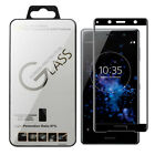 3D Black 9H Tempered Glass Screen Protector Cover For Sony XZ2 Premium H8116