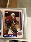 1986-87 Topps Patrick Roy Rookie Card NM Montreal Canadians