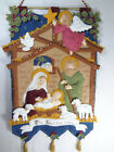 Bucilla Nativity Manger FINISHED Felt Christmas Wall Hanging Kit 8533 2014