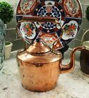 Antique English Copper Tea Kettle Teapot with Lid Coffee Pot Water Kettle #2